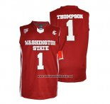 Camiseta NCAA Washington State Klay Thompson #1 Rojo