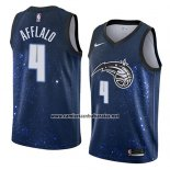 Camiseta Orlando Magic Arron Afflalo #4 Ciudad 2018 Azul