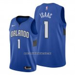 Camiseta Orlando Magic Jonathan Isaac #1 Statement Edition Azul