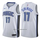 Camiseta Orlando Magic Jonathon Simmons #17 Association 2017-18 Blanco
