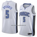 Camiseta Orlando Magic Marreese Speights #5 Association 2018 Blanco