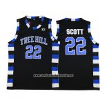 Camiseta Pelicula Tree Hill Nathan Scott #22 Negro