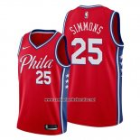 Camiseta Philadelphia 76ers Ben Simmons #25 Statement Edition Rojo
