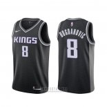 Camiseta Sacramento Kings Bogdan Bogdanovic #8 Statement Negro