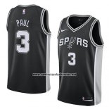 Camiseta San Antonio Spurs Brandon Paul #3 Icon 2018 Negro