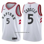 Camiseta Toronto Raptors Bruno Caboclo #5 Association 2017-18 Blanco