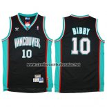 Camiseta Vancouver Grizzlies Mike Bibby #10 Historic Retro Negro