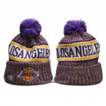 Gorro Beanie Los Angeles Lakers Violeta Blanco