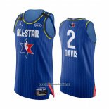 Camiseta All Star 2020 Los Angeles Lakers Anthony Davis Autentico #2 Azul
