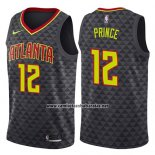 Camiseta Atlanta Hawks Taurean Prince #12 Icon 2018 Negro