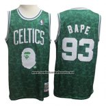 Camiseta Boston Celtics Bape #93 Verde Hardwood Classic