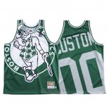 Camiseta Boston Celtics Personalizada #00 Mitchell & Ness Big Face Verde