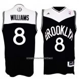 Camiseta Brooklyn Nets Deron Williams #8 Retro Negro