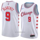 Camiseta Chicago Bulls Antonio Blakeney #9 Ciudad 2018 Blanco