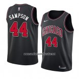 Camiseta Chicago Bulls Brandon Sampson #44 Statement 2018 Negro