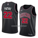 Camiseta Chicago Bulls Cameron Payne #22 Statement 2018 Negro
