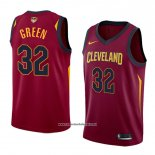 Camiseta Cleveland Cavaliers Jeff Green #32 Icon 2017-18 Finals Bound Rojo