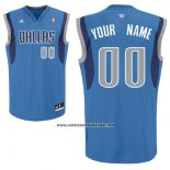 Camiseta Dallas Mavericks Adidas Personalizada Azul
