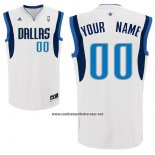 Camiseta Dallas Mavericks Adidas Personalizada Blanco