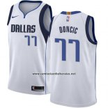 Camiseta Dallas Mavericks Luka Doncic #77 Association 2018 Azul