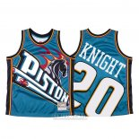Camiseta Detroit Pistons Brandon Knight #23 Mitchell & Ness Big Face Azul