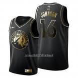 Camiseta Golden Edition Minnesota Timberwolves James Johnson #16 2019-20 Negro