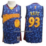 Camiseta Golden State Warriors Bape #93 Azul Hardwood Classics