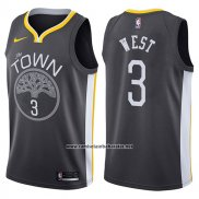 Camiseta Golden State Warriors David West #3 The Town Statement 2017-18 Negro