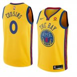 Camiseta Golden State Warriors Demarcus Cousins Ciudad #0 2018-19 Amarillo