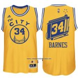Camiseta Golden State Warriors Harrison Barnes #34 Retro City Bus Amarillo