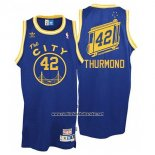 Camiseta Golden State Warriors Nate Thurmond #42 Retro City Bus Azul