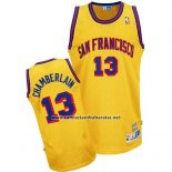 Camiseta Golden State Warriors Wilt Chamberlain #13 Retro Amarillo