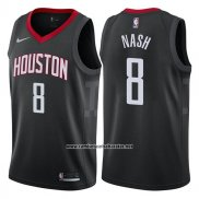 Camiseta Houston Rockets Le'bryan Nash #8 Statement 2017-18 Negro