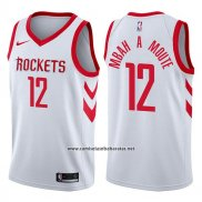Camiseta Houston Rockets Luc Mbah A Moute #12 Association 2017-18 Blanco