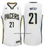 Camiseta Indiana Pacers David West #21 Blanco