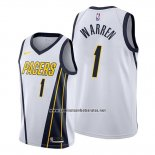Camiseta Indiana Pacers T.j. Warren #1 Earned Blanco