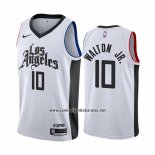 Camiseta Los Angeles Clippers Derrick Walton Jr. #10 Ciudad Blanco
