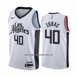 Camiseta Los Angeles Clippers Ivica Zubac #40 Ciudad Blanco
