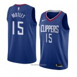 Camiseta Los Angeles Clippers Johnathan Motley #15 Icon 2018 Azul