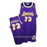 Camiseta Los Angeles Lakers Dennis Rodman Retro Violeta