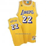 Camiseta Los Angeles Lakers Elgin Baylor #22 Retro Amarillo