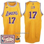Camiseta Los Angeles Lakers Jeremy Lin #17 Retro Amarillo