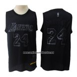Camiseta Los Angeles Lakers Kobe Bryant #24 MVP Negro