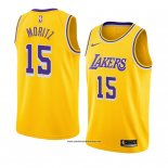 Camiseta Los Angeles Lakers Wagner Moritz #15 Icon 2018-19 Amarillo