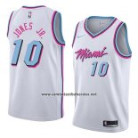 Camiseta Miami Heat Derrick Jones Jr. #10 Ciudad 2018 Blanco