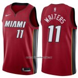 Camiseta Miami Heat Dion Waiters #11 Statement 2017-18 Rojo