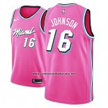 Camiseta Miami Heat James Johnson #16 Earned 2018-19 Rosa