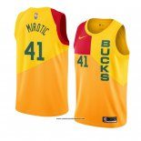 Camiseta Milwaukee Bucks Nikola Mirotic #41 Ciudad 2018-19 Amarillo