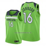 Camiseta Minnesota Timberwolves James Johnson #16 Statement 2019-20 Verde