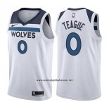 Camiseta Minnesota Timberwolves Jeff Teague #0 Association 2017-18 Blanco